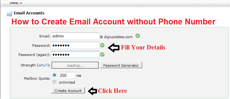 How to Create Email Account without Phone Number